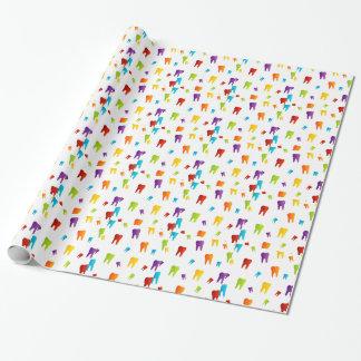 Dientes coloridos papel de regalo