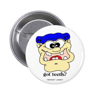 ¿dientes conseguidos? pin redondo 5 cm