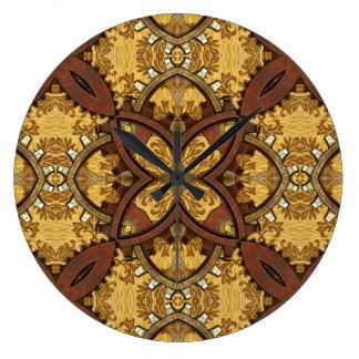 Dientes de cobre amarillo y de cobre de Steampunk Reloj De Pared