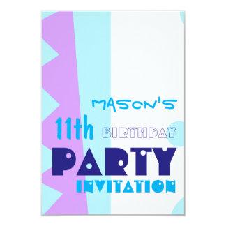 Dientes de la 11ma fiesta de cumpleaños del invitación 8,9 x 12,7 cm