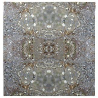 Dientes de león cristalizados servilletas imprimidas