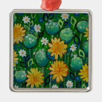 Dientes de león, imagen floral, verde ornamentos para reyes magos