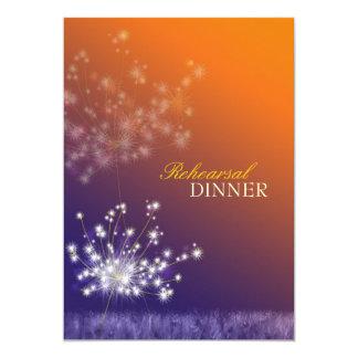 """Dientes de león poéticos que casan la cena del invitación 5"""" x 7"""""""