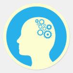 Dientes del pegatina el   que trabajan en el cereb