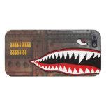 Dientes del tiburón del bombardero WW2 iPhone 5 Protector