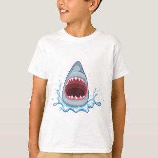 dientes del tiburón del dibujo animado playera