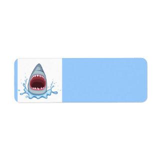 dientes del tiburón del dibujo animado vectorstock etiquetas de remite