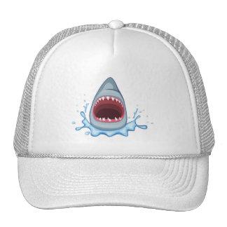 dientes del tiburón del dibujo animado vectorstock gorros