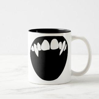 Dientes del vampiro taza de café