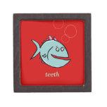 dientes dentados de un pescado - personalizable caja de recuerdo de calidad