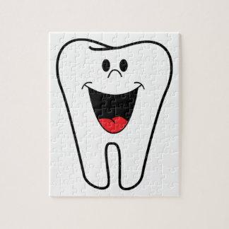 Dientes felices adaptables para su práctica dental rompecabeza con fotos
