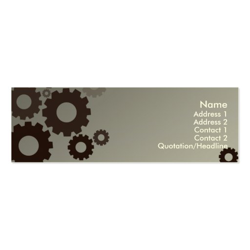 Dientes grises - flacos tarjetas de negocios