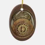 Dientes oxidados Steampunk del vintage personaliza Adorno De Navidad