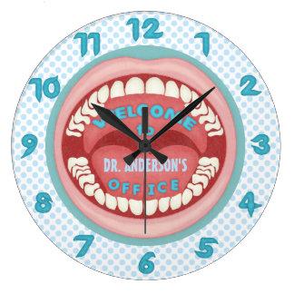 Dientes personalizados novedad de la oficina del reloj redondo grande