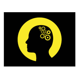 Dientes que trabajan en la postal del cerebro
