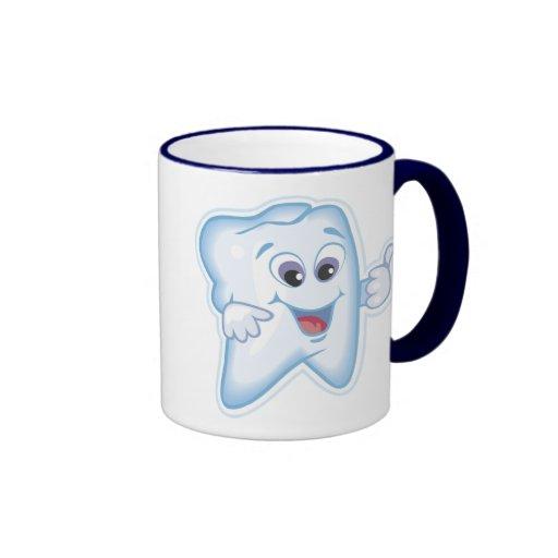 Dientes sanos tazas de café