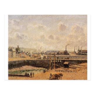 Dieppe, lavabo de Dunquesne, marea baja, Sun, Postales