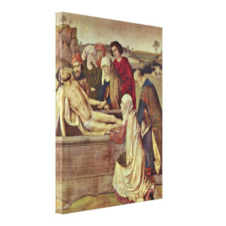 Dieric Bouts - The Entombment Gallery Wrapped Canvas