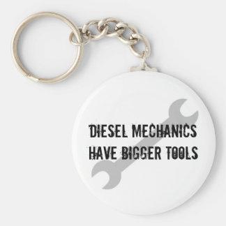 Diesal Mechanics have bigger tools Basic Round Button Keychain
