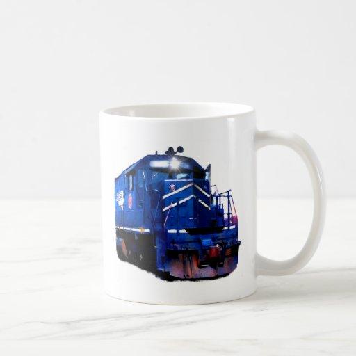 Diesel azul taza