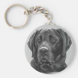 Diesel, Black Labrador Retriever Basic Round Button Keychain