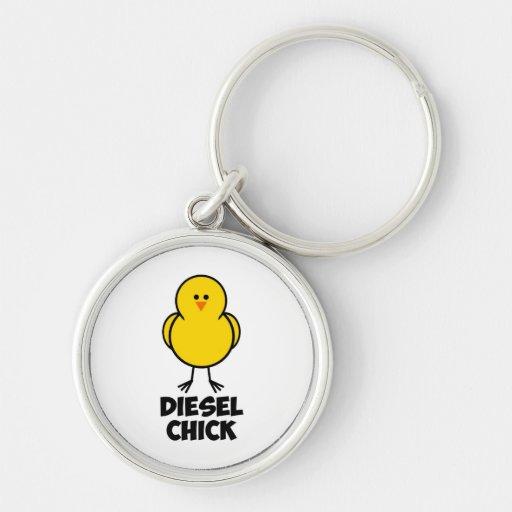 Diesel Chick Keychain