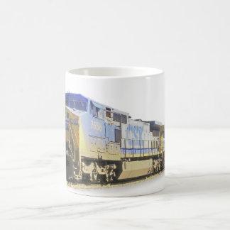 Diesel-electric train mug