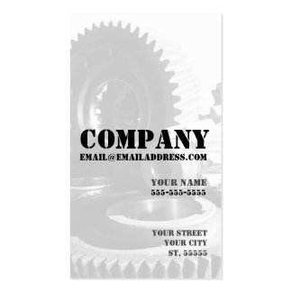 Diesel Engine Business Card (with Gears)