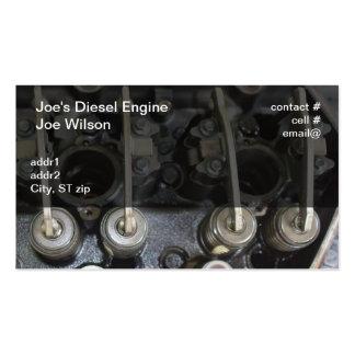 Diesel engine valves business card