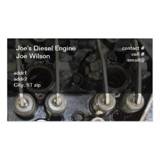 Diesel engine valves Double-Sided standard business cards (Pack of 100)