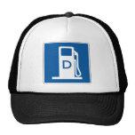 Diesel Gas Street Sign Hats