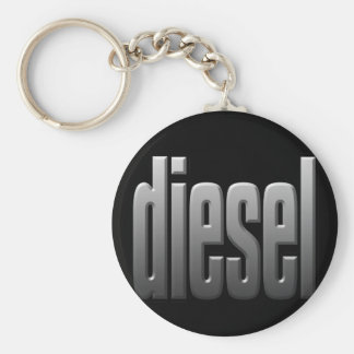 DIESEL. hardcore, strength. tough. muscle. Basic Round Button Keychain