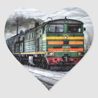 Diesel Locomotive Gifts for Train Lovers Heart Sticker