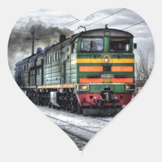 Diesel Locomotive Gifts for Train Lovers Heart Sticker