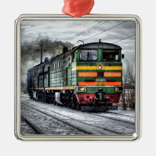 Diesel Locomotive Gifts for Train Lovers Metal Ornament