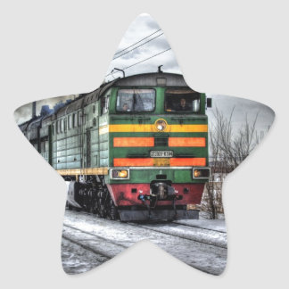 Diesel Locomotive Gifts for Train Lovers Star Sticker