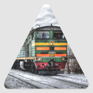Diesel Locomotive Gifts for Train Lovers Triangle Sticker