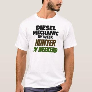 Diesel Mechanic by Week Hunter by Weekend T-Shirt