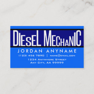 For Diesel Mechanic Business Cards Zazzle