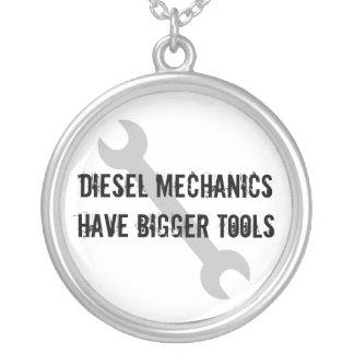 Diesel Mechanics Have Bigger Tools Round Pendant Necklace