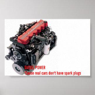 diesel power poster