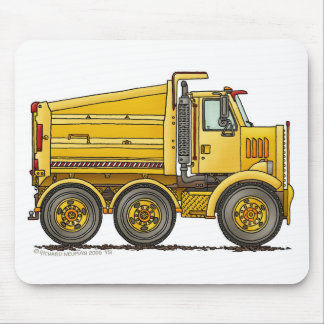 Diesel Tandem Dump Truck Construction Mouse Pad