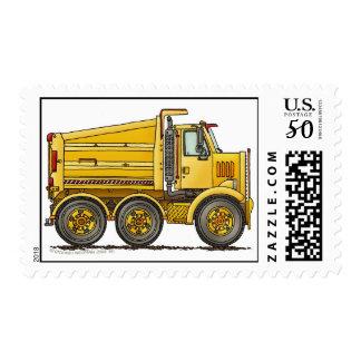 Diesel Tandem Dump Truck Construction Stamps