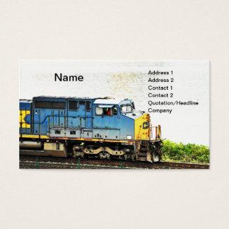 diesel train business card