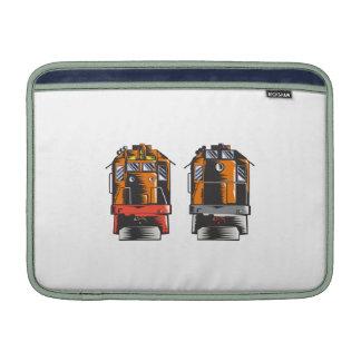 Diesel Train Front Rear Woodcut Retro MacBook Air Sleeves