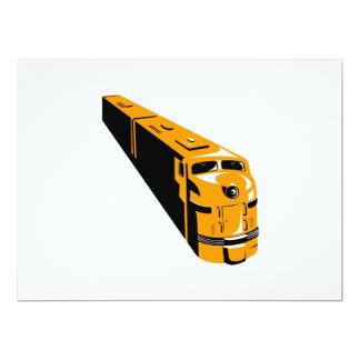 Diesel Train High Angle Retro 6.5x8.75 Paper Invitation Card