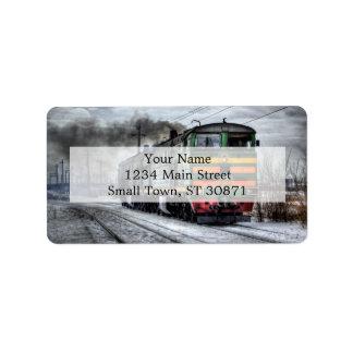 Diesel Train Locomotive Gifts Label