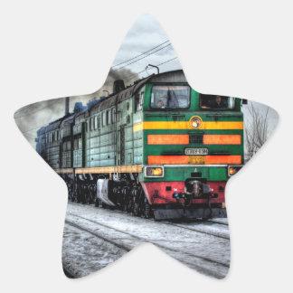 Diesel Train Locomotive Gifts Star Sticker