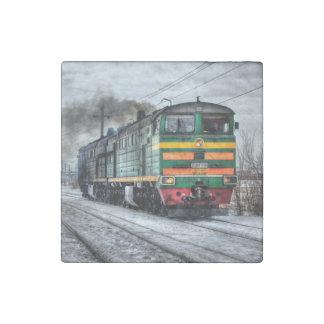 Diesel Train Locomotive Gifts Stone Magnet