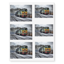 Diesel Train Locomotive Gifts Temporary Tattoos